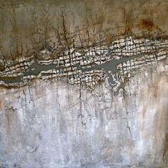 Natur, akryl, sand og jord af Martina Schultz