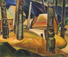 Emily Carr-Group of Seven- Kispiax Village kp Tom Thomson, Vancouver Art Gallery, Art Gallery Of Ontario, Canadian Painters, Canadian Artists, Emily Carr Paintings, Group Of Seven Paintings, Impressionist Paintings, Oil Paintings