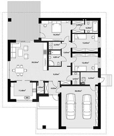 Floor plan of the Asan project - House Plans Mansion, Dream House Plans, House Floor Plans, Simple House Plans, Modern House Plans, Home Building Design, Home Design Plans, Bungalow House Design, Small House Design