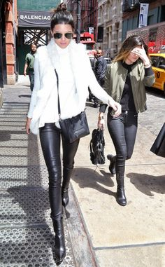 Kendall and Kylie Jenner Look Extra Chic While Stepping Out in New York City