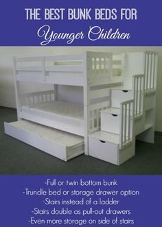 We purchased the Bedz King Twin Over Twin Stairway Bunk Bed from Amazon. After using the bunk beds for the past two weeks, we are so happy with our choice. My kids love them, they look gorge…