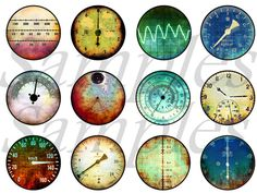 Items similar to Steampunk Gauges Meters Magnets Pins Party Favors Wedding Favors Pin or Magnet Gift Sets Fridge Refrigerator Magnets on Etsy Steampunk Diy, Wedding Party Favors, Gauges, Printables, Etsy, Handmade, Gifts, Clock Faces, Plastic