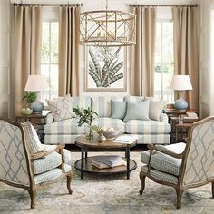 Having small living room can be one of all your problem about decoration home. To solve that, you will create the illusion of a larger space and painting your small living room with bright colors c… Formal Living Rooms, Home Living Room, Living Room Designs, Living Spaces, Living Room Decor Traditional, Traditional Furniture, French Country Living Room, French Cottage, Country French