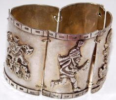 Vintage Peruvian Silver Bracelet by TheButterflyBoxdeitz on Etsy, $200.00