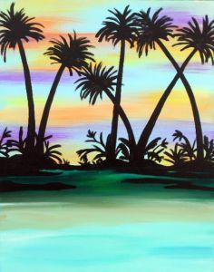 PINOT'S PALETTE STATEN ISLAND. PAINT. DRINK. HAVE FUN    Chromatic Sunset
