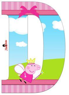Escuela infantil castillo de Blanca: ABECEDARIO DE PEPPA PIG Big Birthday Cake, Pig Birthday, Happy Birthday Cards, Invitacion Peppa Pig, Cumple Peppa Pig, Pippa Pig, Aniversario Peppa Pig, Pig Character, Candy Bar Party