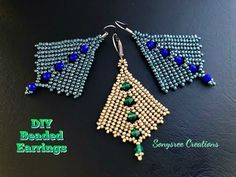 Best Seed Bead Jewelry 2017 How to make beaded Earrings. Seed Bead Jewelry, Seed Bead Earrings, Diy Earrings, Seed Beads, Hoop Earrings, Tragus Earrings, Heart Earrings, Beaded Earrings Patterns, Seed Bead Patterns