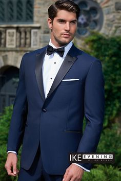"""Evening Notch"" Navy Ike Behar Tuxedo"