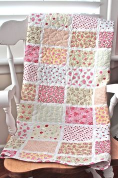Cot quilt using Tanya Whelan fabric | Sewing Quilts | Pinterest ... : cot patchwork quilt patterns - Adamdwight.com