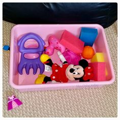 Valentine's Day sensory bin perfect for toddlers and babies