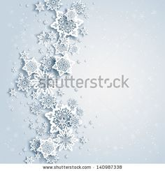 Abstract background with snowflakes by paprika, via Shutterstock