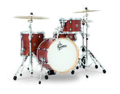 Gretsch Drums Catalina Club Jazz 4 Piece Shell Pack Satin White Glaze CT1-J484-SWG The Gretsch Catalina Club Series blends traditional configurations and classic tone with sleek, contemporary hardware