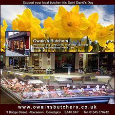Owains Butchers - Saint Davidas Day Facebook Welsh Cawl, Local Butcher, Saint David's Day, Promote Your Business, Business Marketing, Wales, Designers, Social Media, Facebook