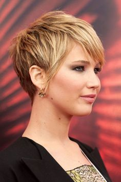 jennifer lawrence short haircut photos | jennifer lawrence