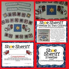 Get your students motivated to tie those shoes!  A Freebie from Differentiated Kindergarten. A Differentiated Kindergarten: Shoe Sheriffs-Wrangling and Roping Shoes All Over Class!