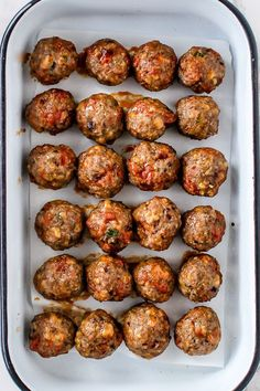 Chorizo Meatballs – bagt i ovnen (Loui&bearnaisen) Tapas Recipes, Italian Recipes, Mexican Food Recipes, Beef Recipes, Dinner Recipes, Cooking Recipes, Party Recipes, Recipe For 6, Food Porn