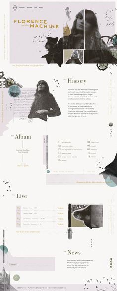 Florence + the Machine Website - Andrew Czap…