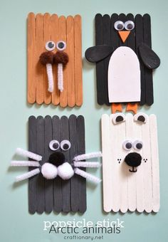 40 Creative Popsicle Stick Crafts For Kids,Popsicle sticks are one of those craft items which you can always find in your craft stash. They are so inexpensive, fun and provide endless options f. Kids Crafts, Winter Crafts For Kids, Crafts For Kids To Make, Toddler Crafts, Preschool Crafts, Art For Kids, Arts And Crafts, Easy Crafts, Spring Crafts