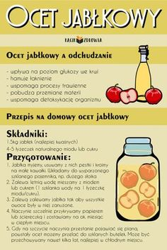 Ocet jabłkowy Raw Food Recipes, Diet Recipes, Healthy Recipes, Detox Juice Recipes, Nutrition, Slow Food, Fruit Smoothies, Food Design, Health Diet