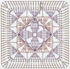Crochet square chart...