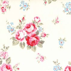 Flower Sugar Cotton Oxford Pink floral 40398L-10  one yard by SewElegantly on Etsy https://www.etsy.com/listing/209616112/flower-sugar-cotton-oxford-pink-floral