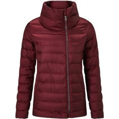 Weekend MaxMara Panino Short Padded Coat, Bordeaux (2,285 GTQ) ❤ liked on Polyvore featuring outerwear, coats, weekend max mara, short coat, zip coat, padded coat and weekend max mara coat