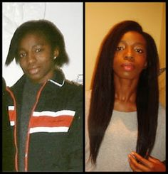 Relaxed Hair Health: Feature| How she grew from Neck Length to Waist Length