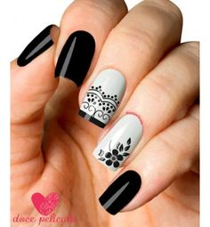 Imagen relacionada Fabulous Nails, Perfect Nails, Gorgeous Nails, Love Nails, My Nails, Mandala Nails, Magic Nails, Silver Nails, Square Nails