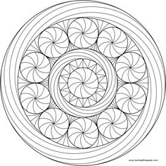 Peppermint Mandala to Color- available in jpg and transparent png #Christmas