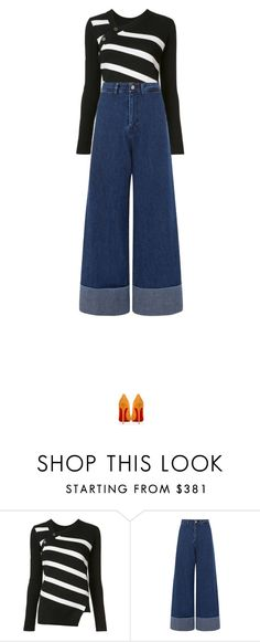 """Untitled #2947"" by nineteen92 ❤ liked on Polyvore featuring Proenza Schouler, Sea, New York and Christian Louboutin"