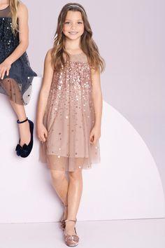 Girls Tops Online - 3 to 16 years - Next Sequin Tunic - EziBuy Australia Little Girl Dresses, Girls Dresses, Flower Girl Dresses, Girls Christmas Dresses, Tween Fashion, Little Girl Fashion, Little Fashionista, Kind Mode, Cute Dresses