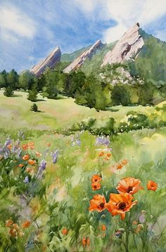 "Chautauqua Park 18.5"" x 29.5"" watercolor - giclee available #watercolorarts"