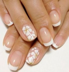 Nail art designs and ideas for different types of nails like, long nails, short nails, and medium nails. Check out more all Nail art designs here. French Manicure Designs, Cute Nail Art Designs, Simple Nail Designs, White Nail Art, White Nails, Yellow Nail, French Nails, How To Do Nails, Fun Nails
