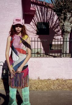"""Did she land from outer-space or are we dreaming? Take a trip, as Theo Wenner shoots and Julia Sarr-Jamois styles Natalie Westling in the desert as dusk begins to fall. According to red-haired Arizona native, """"Luxury is being able to wear the things. Natalie Westling, Julia Sarr Jamois, High Class Fashion, Art Partner, Fashion Portfolio, Christopher Kane, Body Image, Makeup Tips, Makeup Hacks"""