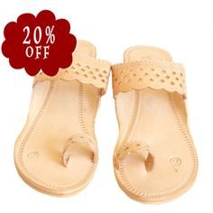 218de9f0f38ae Items similar to Handmade kolhapuri leather sandals