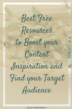 As a new blogger, it can be hard to create content that will attract the right audience. Get ready to find your target audience with this post!