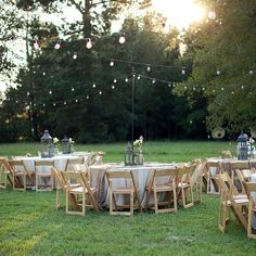 Neutral outdoor reception decor | Lauren F. Liddell Photography