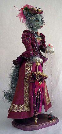 victorian cat Cloth Doll Pattern, by Stephanie Novatski