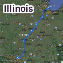 Illinois Route 66 Map ~ All states listed ~ great info for the whole route!