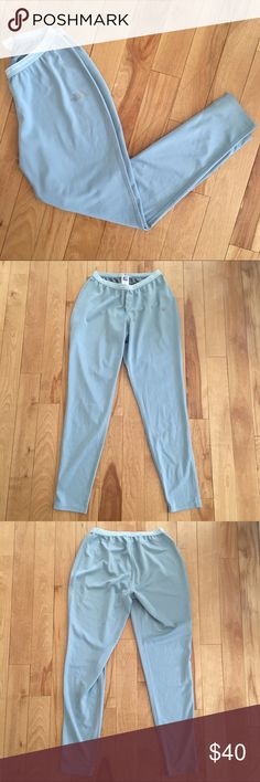 """The North Face Mint Thermal Pants for Skiing These mint colored thermal pants / long johns will keep you warm on the slopes. Features elastic """"Never Stop Exploring"""" waistband. 100% polyester. Excellent condition! Size: Medium. Length: Waist: The North Face Pants"""