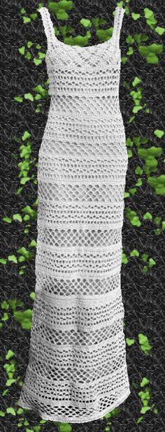 Vestido Tejido A Crochet Largo Al Tobillo