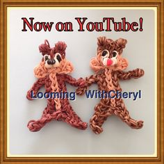 Rainbow Loom Chip and Dale Chipmunks. How to Now on YouTube! Subscribe❤️❤️http://m.youtube.com/user/LoomingWithCheryl Charms figures puppets