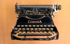Corona typewriter: One typo and you had to start all over again...