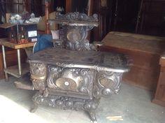 Antique Old Cast Iron King Stove Amp Range Sheffield Ala No