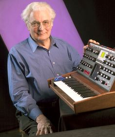 The Moog Synthesizer together with its inventor Dr. Robert Moog