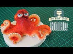 Finding Dory cake topper: Hank the octopus model (septopus) - YouTube