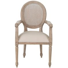 This beautifully designed dining chair features a rattan cane back and an…