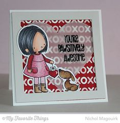 You Have My Heart stamp set and Die-namics, Love Centerpieces Die-namics, Pierced Heart STAX Die-namics, Square Frames Die-namics - Nichol Magouirk #mftstamps