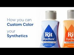 Rit DyeMore, a dye specially made for synthetic fabrics like polyester, polyester cotton blends, acrylic, and acetate.
