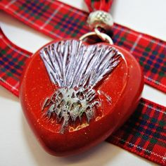 A Scottish Valentine 'The Thistle' by Shoogly Beads on Folksy